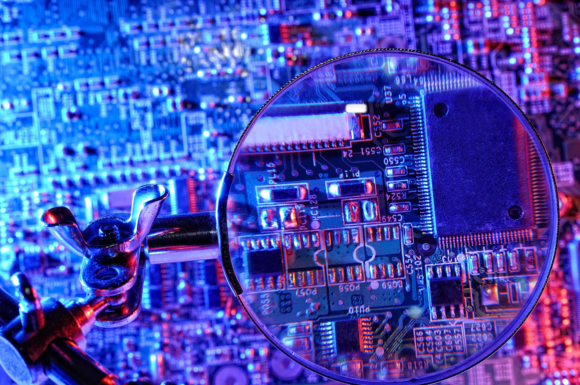 computer chip close up